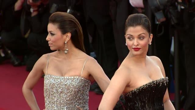 Eva Longoria and Aishwarya Rai at the Tournee Red Carpet Cannes Film Festival 2010 at Cannes