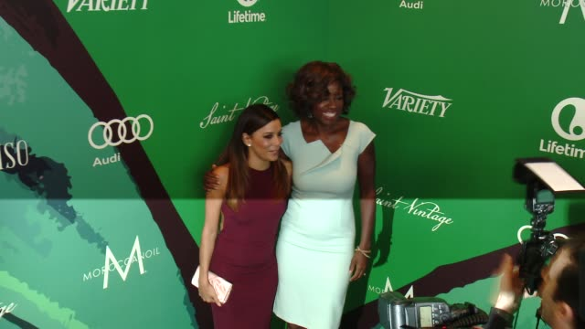 Eva Longoria Viola Davis at Variety's 2014 Power of Women Luncheon at Four Seasons Hotel Los Angeles on October 10 2014 in Beverly Hills California
