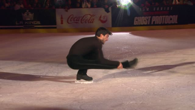 Evan Lysacek at 4th Annual Holiday Tree Lighting At LA LIVE Opening Of LA Kings Holiday Ice in Los Angeles CA