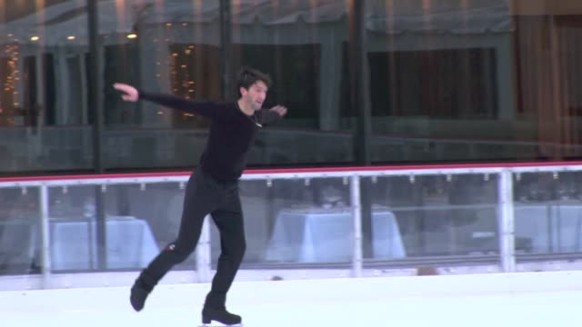 Evan Lysacek at Rockefeller Center in New York on 12/8/2011