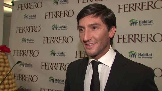 Evan Lysacek on designing the dress for this campaign at the Ferrero Chocolates and Evan Lysacek Fashion Event at New York NY