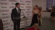 Evan Lysacek on the auction for the dress and how the proceeds will be used at the Ferrero Chocolates and Evan Lysacek Fashion Event at New York NY