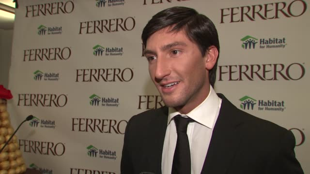Evan Lysacek on why he wanted to get involved and the online campaign at the Ferrero Chocolates and Evan Lysacek Fashion Event at New York NY