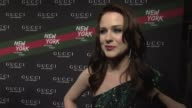 Evan Rachel Wood on being out to support Gucci On loving the brand and what it means to her On meeting Frida and how talented she is at the Gucci...