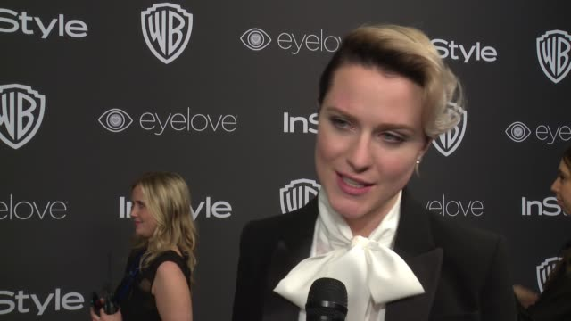 INTERVIEW Evan Rachel Wood on her night at 18th Annual InStyle And Warner Bros Pictures Golden Globes AfterParty at The Beverly Hilton Hotel on...
