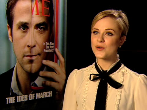 Evan Rachel Wood on working set at the The Ides of March Interviews Venice Film Festival 2011 at Venice