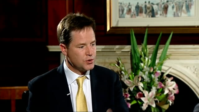 Nick Clegg interview ENGLAND Sussex Brighton INT Nick Clegg MP interview SOT First heard about Andrew Mitchell trying to get through Downing Street...