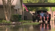 Even when water began rushing in under their front doors several residents in Orange Texas defied calls to evacuate including Lonnie and Missy Givens...