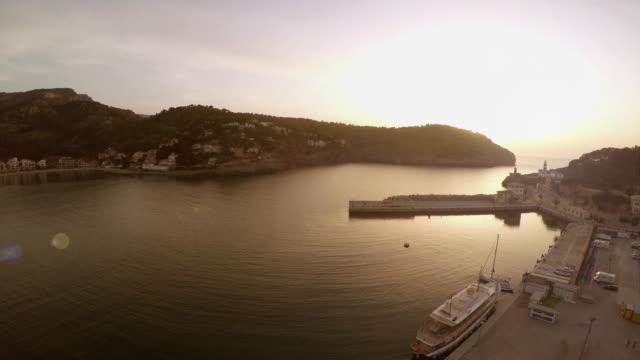 Evening in the port city Port soller