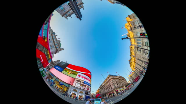 Evening rush hour in London's Piccadilly Circus.