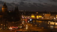 Evening time lapse of Amsterdam