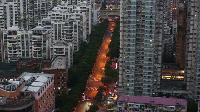 Evening traffic in Zhabei District, Shanghai