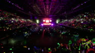 WS ZO T/L Event center filling up with people for glow stick carols event / Auckland, Auckland, New Zealand