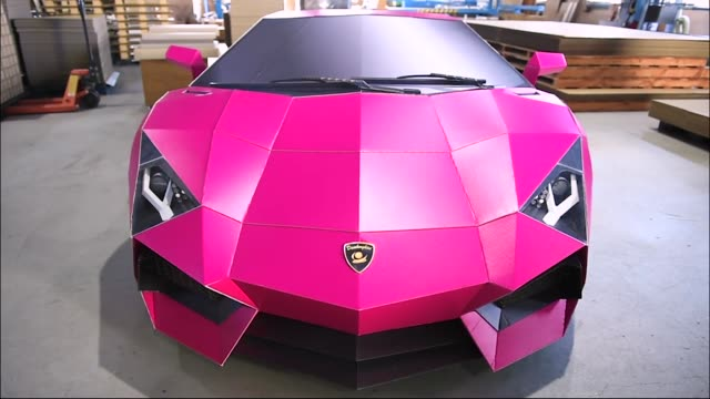 Every last detail of the bright pink lifesize Italian supercar Lamborghini going on show at a shopping mall near here was replicatedin...
