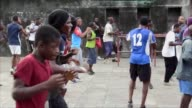Every Sunday Kinshasa's sportiest residents come to run box and play football outside the city's Tata Raphael stadium but today there are far fewer...