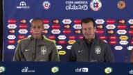 """""""Everyone who likes football wanted to see Neymar on the field"""" said Brazil coach Dunga Saturday after their team's superstar was dramatically thrown..."""