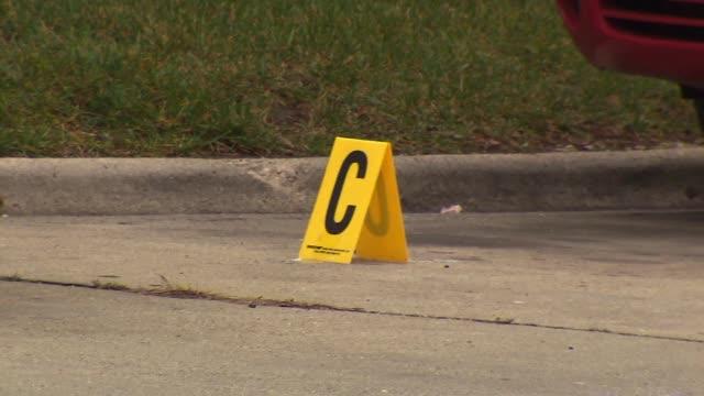 WGN Evidence marker at crime scene on December 10 2012 in Chicago Illinois