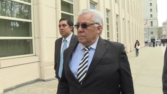 Ex FIFA official Hector Trujillo arrives at New York federal court