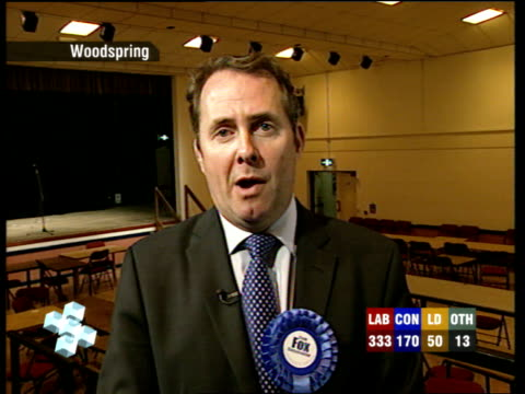 Liam Fox live 2way interview ex Woodspring SOT Need to build on this result / Comparison with Michael Foot is an unfair one / Talks of Labour Party's...