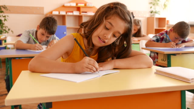 Exam in classroom