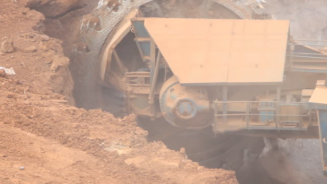 Excavator at the lignite opencast mining