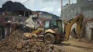 Excavator clears debris after the 71 Magnitude earthquake in the town of Jojutla de Juarez Morelos State Mexico on Wednesday Sept 20 2017 The 71...