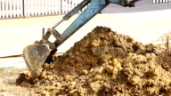 excavator tractor working