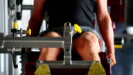 Excercising Gym Health Club Fitness Caucasian Male