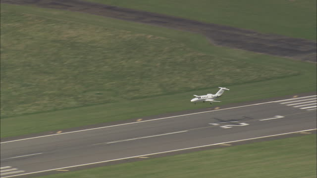 Executive Jet Landing At Tempelhof Airport