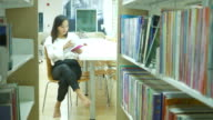 executive woman in library