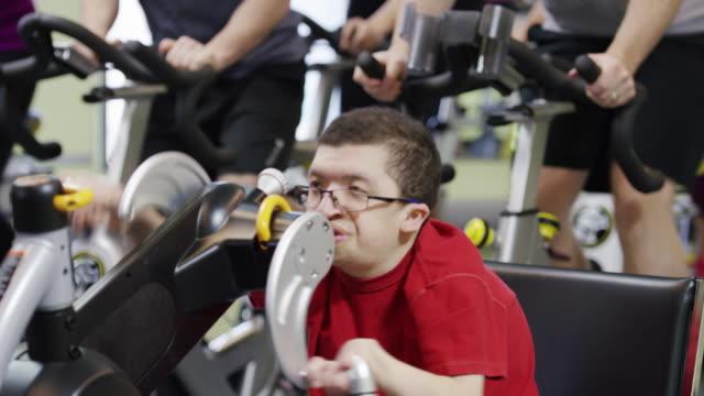 Spinning fietsen klasse met handicap