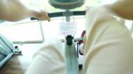 Exercising in sport club
