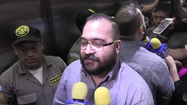 Exgovernor of Mexican Veracruz state Javier Duarte refused to talk to the press as police officers led him out of the court in which he accepted...