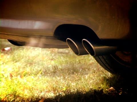 Abgase aus dem Auto pipe Ton/audio