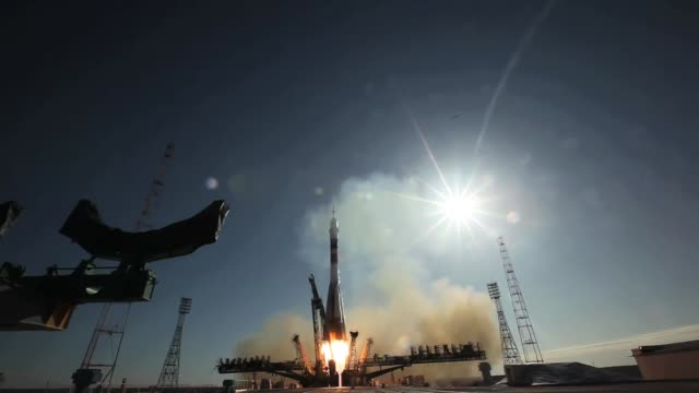 Expedition 23 launches en route to International Space Station from Baikonur Cosmodrome on April 02 2010 in Kazakhstan