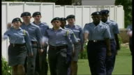 RAF cadets marching towards