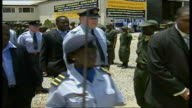 Flight Lieutenant Haydn 'H' Tanner carrying out inspection on parade ground of Ghana's national cadet corps Flight Lieutenant Haydn 'H' Tanner...