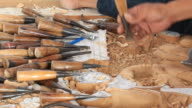Experienced wood carver