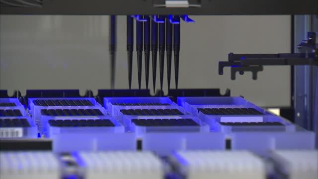 DNA experimentation and laboratory machine