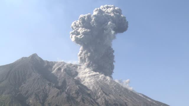 Explosive volcanic eruption at Sakurajima volcano