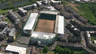 Exterior aerial shots Easter Road Stadium home to Hibernian Football Club on February 23 2014 in Edinburgh Scotland