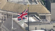 Exterior aerial shots of Big Ben and the Houses of Parliament on August 06 2014 in London England