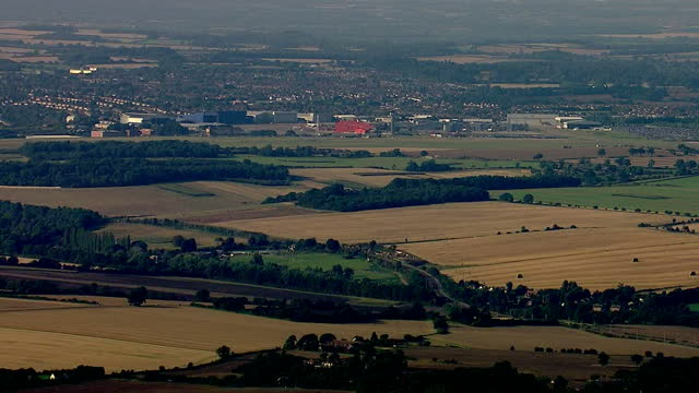 Exterior aerial shots of Luton Airport with planes parked at hangars on the day a suspicious package triggered a security alert on September 08 2014...