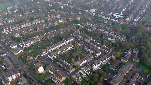 Exterior aerial shots of residential areas of Rochester Kent on November 20 2014 in Rochester England
