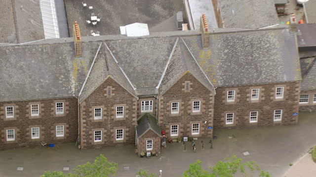 Exterior aerial shots of the former Haut de la Garenne children's home on Jersey on July 04 2015 in Saint Helier England