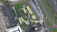 Exterior aerials venue track layout for the London 2012 Olympics BMX event Sky News 2012 Olympics Coverage on July 12 2012 in London England
