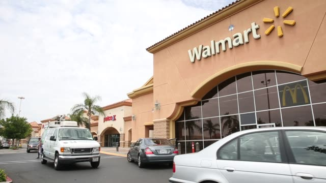 Exterior and signage shots of a Walmart store in Los Angeles California on August 6th 2015 Shots Exterior and signage shots from the Parking Lot Cars...