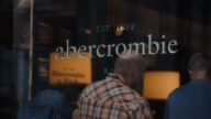 Exterior and signage shots of Abercrombie and Fitchs fifth Avenue store in Midtown Manhattan shot on May 26 2015 Shots Wide shot of shoppers and...