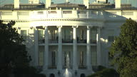 Exterior arty shots of the White House from the South Lawn with slow zoom ins and a pull focus on November 03 2015 in Washington DC