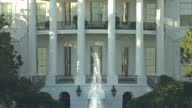 Exterior arty shots of the White House with fountain outside from the South Lawn on November 03 2015 in Washington DC